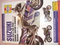 Haynes Manual for Suzuki GSXR1100 /750 from 1985