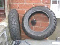 2 x ten inch Scooter Tyres