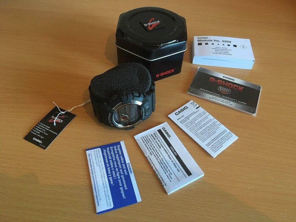 0b68a6a4b02f Casio G-Shock GR-8900-1ER Solar Powered Black Digital Watch Mens Gents  Tough GShock GR8900