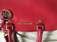 Michael Kors Sutton Medium in Patent Red 100% Authentic
