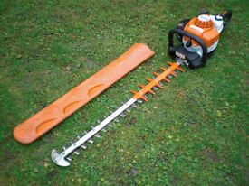 """2016 Stihl HS82 RC 32"""" Double Sided Swivel Handle Petrol Hedge Trimmer hs81r hs81t"""