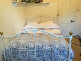 FREE TO GOOD HOME ....... Wrought Iron White Queensize bed