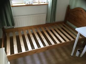 Single 3 ft Pine bed