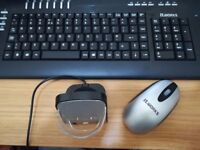Wireless Keyboard and Mouse Set, TeckNet 2.4G Slim Desktop Cordless