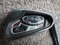 Various golf clubs, taylormade, callaway & Ping Ping K15 Ti-face 7 iron blue dot golf club £30