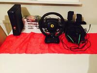 Xbox 360 bundle 10 games plus steering wheel swap aswell