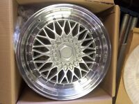 """18"""" SILVER & POLISH STAGGERED WHEELS 5/114/112 NISSAN,MERCEDES,VW,FORD,TOYOTA"""