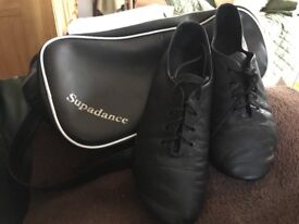 Scottish dance shoes with bag