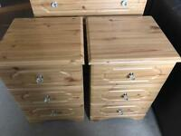 Bedroom Furniture, Wardrobe Set of Drawers and two Bed Side Tables