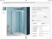 Simpsons luxury quadrant shower enclosure (900 x900). Band new. Still in box.