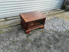 Small dark wood tv stand