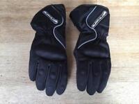 Men's waterproof biker gloves.