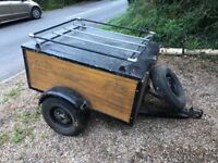 Lovely wooden trailer, stored in garage last 6 years. Used occasionally!!