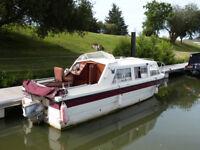 23ft Viking GRP narrow beam 25HP outboard Boat built 1985