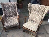 1950's arm chair & rocking chair