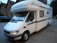 MERCEDES AUTOTRAIL 4/5 BERTH FIXED BED MOTORHOME FOR SALE, AUTOMATIC GEARBOX