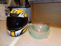 AGV yellow crash helmet xs