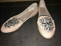 Next Women's Flat Shoes With Gems size 5 / 6