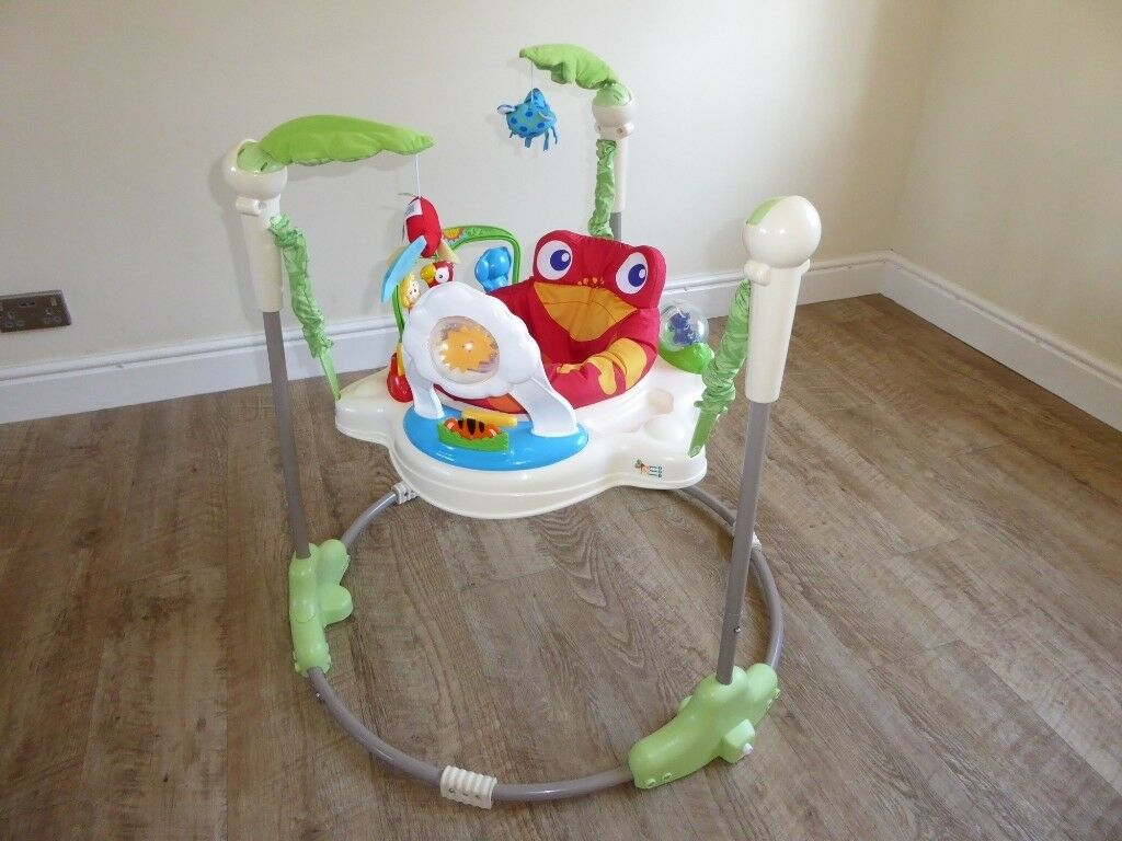 e5eba4f46273 Jumperoo Fisher Price Rainforest Baby Bouncer Toy Excellent Condition