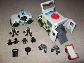 fisherprice imaginext police car and ambulance figures and accessories
