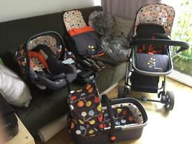 Cosatto travel system and isofix base