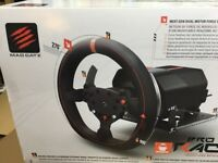 Brand new unopened- Mad Catz Pro Racing Feedback Wheel and pedals XBox One