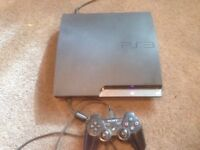 Play station 3 slim 250g with games