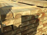 Timber rails 100x47mm Pressure Treated green