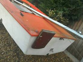 Sailing boat wayfairer type. Dinghy