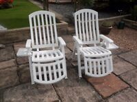 For sale two recliner chairs with drinks holder