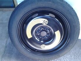 Audi Q3 Space saver wheel and tyre. 145 x 80 x R18 Unused.