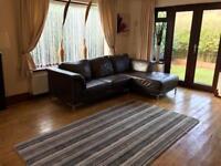 Brown Leather Corner Sofa Cost £1700