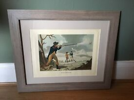 Framed Hunting Picture