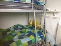 Grey bunkbeds that go into 2 single beds