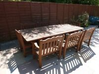 Alexander Rose Large Patio Table & 8 Chairs