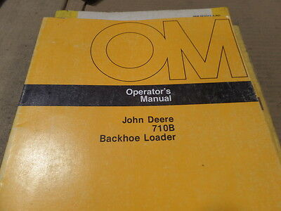 John Deere 710b Backhoe Loader Operators Manual