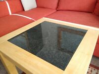 Genuine oak and granite table