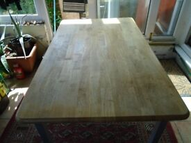 PINE-TOPPED TABLE