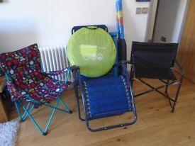 beach /garden .chairs / tent/ all
