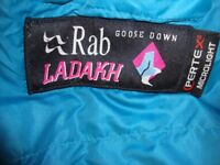 RAB LADAKH GOOSE DOWN WITH HOOD SLEEPING BAG.