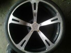 20 inch alloy wheels next to new tyres. Unfortunetly 3 of.