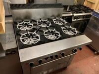 HIGH POWER GARLAND GAS COOKER UNDER OVEN CATERING COMMERCIAL KITCHEN