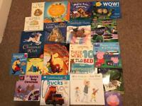 Bundle of children's books. Some brand new. Some Christmas. Peppa pig. Paw patrol