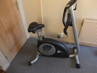 mg 4000 exercise bike, adjustable tension and height, with display, in good working order