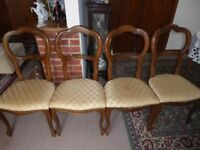 4 Balloon Back Dining Chairs