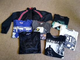 Bundle of Boys clothes jacket long sleeve and t-shirts 10-11 good cond