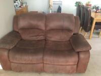 Pair twin seater sofas