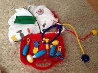 Children's doctors dressing up set