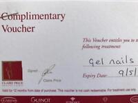 Gel nails voucher - £15 ONLY (worth £43)