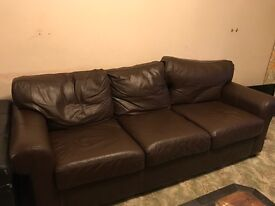 Very clean, leather sofa for sale